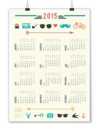 calendario colgante hipster