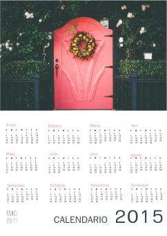 calendario puerta