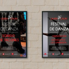 Afiches festival de danza - instituto de danzas Laura Galín