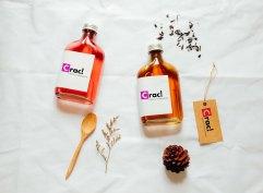 Cold brew tea branding mockup set with tea leaf