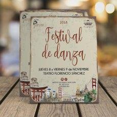 Programa de mano festival de danza del instituto Laura Galín