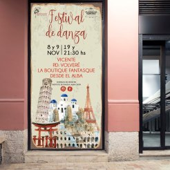 Banner para puerta Festival de danza