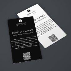 Tarjetas personales Darío Lapaz, gestor cultural