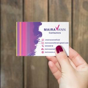 Tarjeta personal para la cantautora Maira Vann